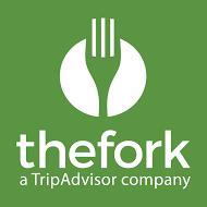 Logo-TheFork-vertical-green-background