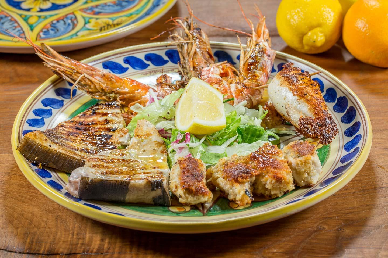 Cucina tipica siciliana - Fritto misto di calamari e gamberi