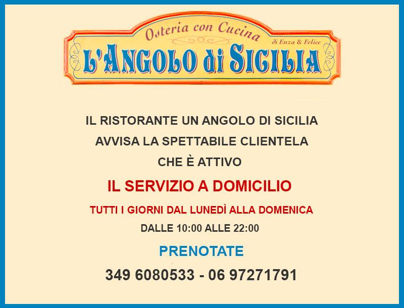 Un Angolo di Sicilia Servizio a Domicilio